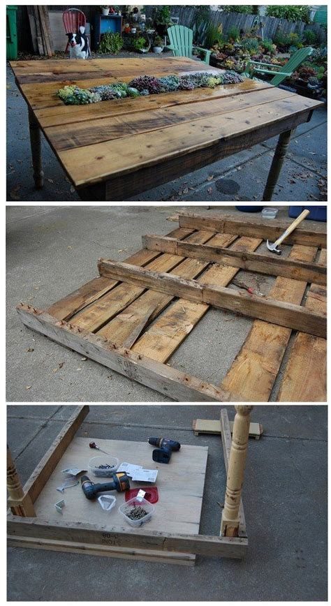 table made out of pallets recycled home decor