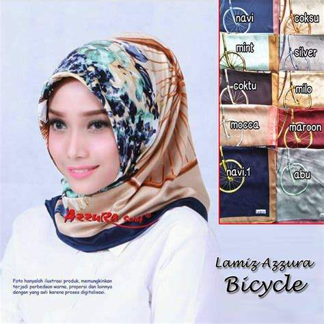 Grosir Kerudung Bandung Pash Velvet segiempat lamiz azzura bicycle sentral grosir jilbab kerudung i supplier jilbab i retail