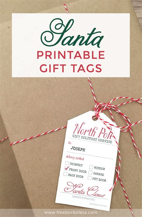 printable santa gift tags free how to add christmas magic with santa gift tags 259 west