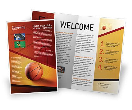 Before Basketball Game Brochure Template Design And Layout Download Now 02016 Sport Brochure Templates Free