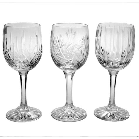 crystal wine glasses cut crystal wine glass set of 6 glasses pinwheel or