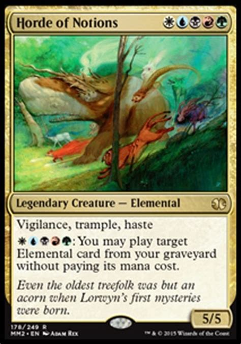 Magic The Gathering 5 Color Deck by Mtg Commander Bring To Light In 5 Color Edh Commander