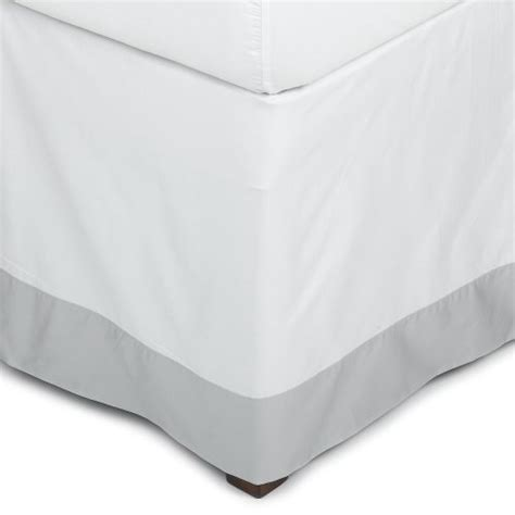 silver bed skirt pinzon hotel banded 100 percent egyptian cotton sateen queen bed skirt silver gray