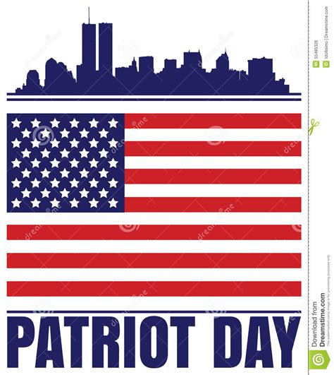 patriots day free patriot day stock vector image 55485326