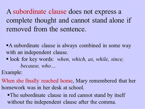 subordinate clause subordinate clause exle best resumes