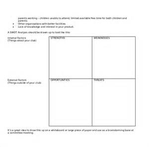 Swot Template Word by 15 Microsoft Word Swot Analysis Templates Free