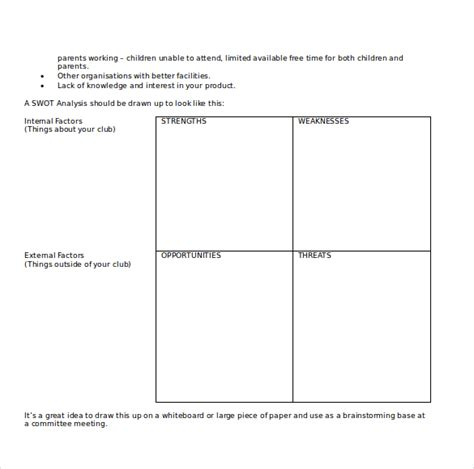 downloadable will template 21 microsoft word swot analysis templates free