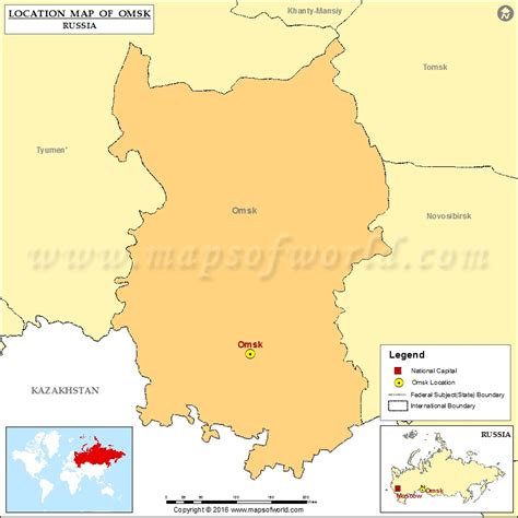 omsk map where is omsk location of omsk in russia map