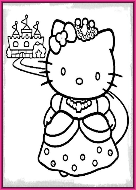 imagenes para dibujar hello kitty dibujos para colorear de la hello kitty princesa archivos