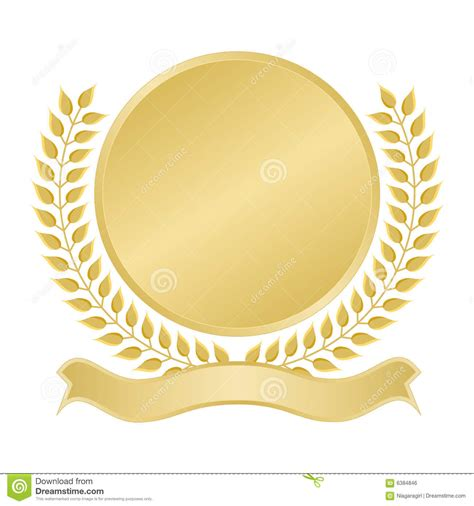 blank seal template blank gold seal royalty free stock image image 6384846