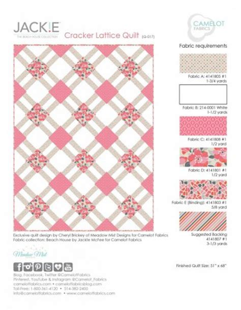 Cracker Quilt Pattern by Cracker Lattice Quilt