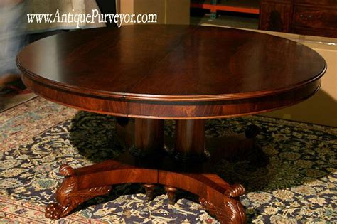 60 Quot Round To 120 Quot Oval Dining Table Single Pedestal