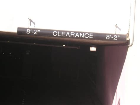 Parking Garage Clearance by Gdt Bab Bars Brickyard Parking Garage Clearance Sign In