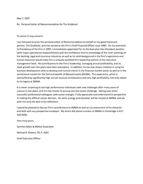 employee letter of recommendation examples military bralicious co