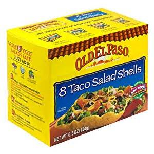 Where To Buy Mexican Candy Amazon Com Old El Paso Salad Taco Shells 6 5 Ounce Boxes Pack Of 12 Grocery Amp Gourmet Food