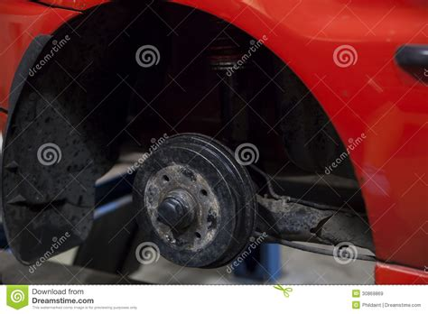 getting fixed car at garage royalty free stock images image 30869869