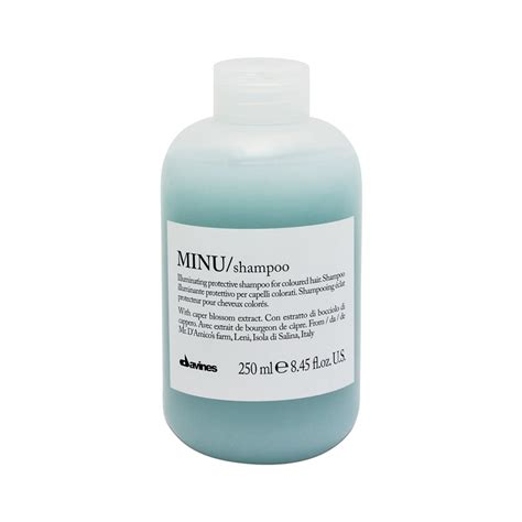 wash in hair color products davines minu shoo for color treated hair