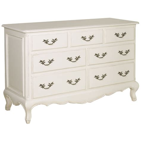 White Chest Of Drawers by Provencal 7 Drawer White Chest Drawers Bedroom