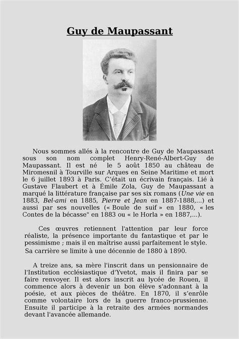 guy de maupassant life biography calam 233 o 3 biographie maupassant jade margot jasmine ok