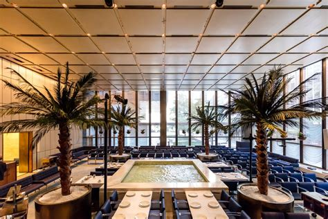 pool room at the four seasons the four seasons restaurant s midcentury modern interiors get spiffed up curbed ny