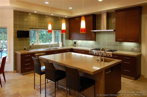 Cherry Kitchen Caninets And Backsplashes Ideas Home Kitchen Lighting Design