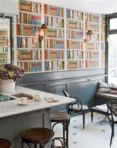 fool your date bookshelf printed wallpaper the luxury spot