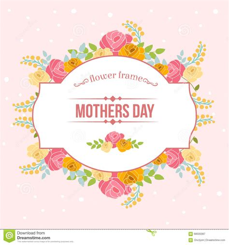 floral mothers day stock vector image of