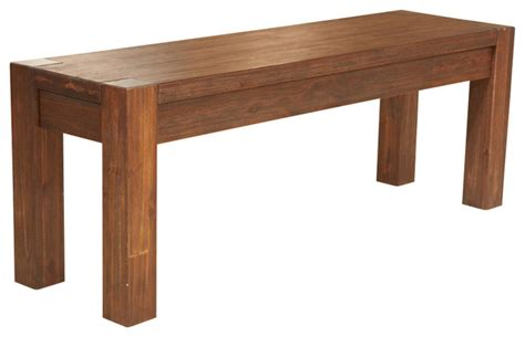 solid bench modus meadow solid wood bench in brick brown