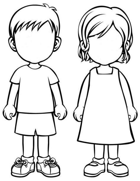 girl template coloring page sifatlar şablon sınıf pinterest free printable