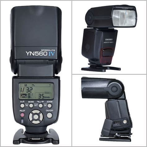 Flash Yongnuo Bekas yongnuo yn 560 iv wireless flash speedlite master flash built in trigger system