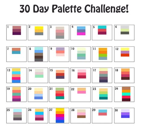 color challenge 30 day palette challenge by magicalzombie on deviantart