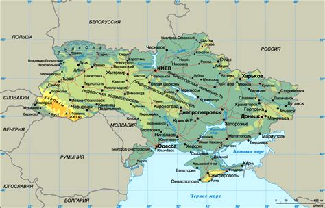 physical map of ukraine impressum