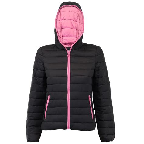 Padded Hooded Jacket padded jacket womens coat quilted hooded