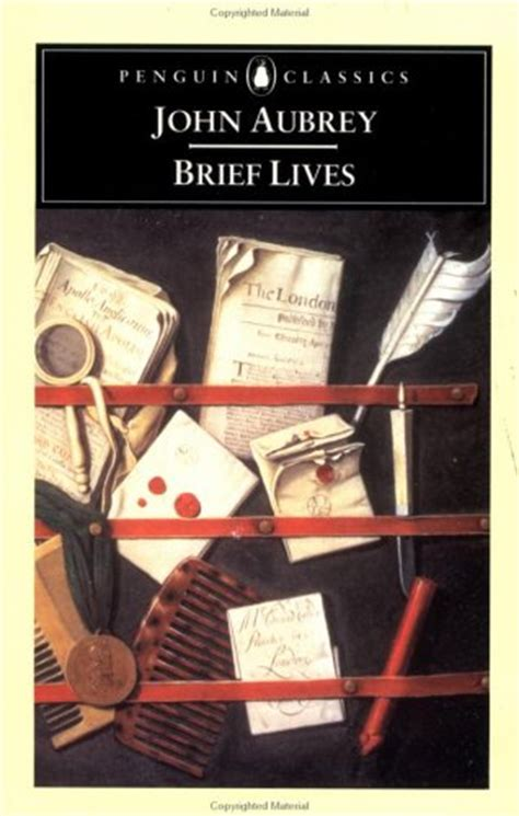 aubreys brief lives the 0140430792 brief lives by john aubrey reviews discussion bookclubs lists