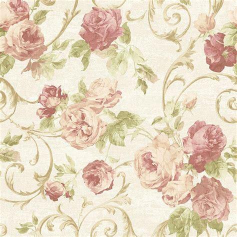 wallpaper flower motif sirpi rose flower pattern wallpaper floral glitter motif
