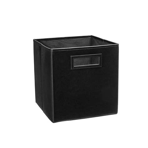 Faux Leather Storage Drawers by Closetmaid 10 5 In X 11 In X 10 5 In Midnight Black