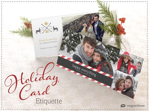 holiday card etiquette say this but maybe not that
