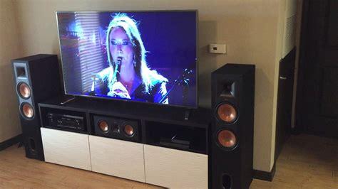 klipsch r 28f denon avr x1100w stereo home theater