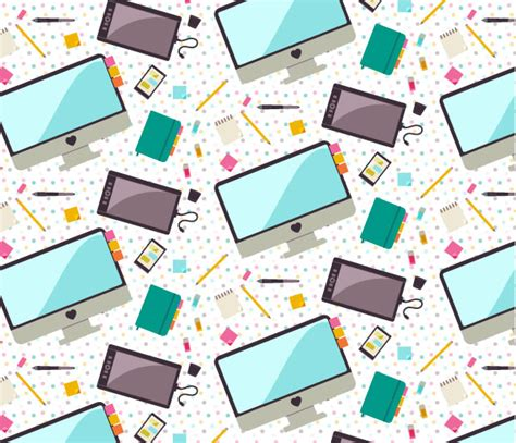 pattern making illustrator cc create a seamless pattern of flat desk icons in adobe