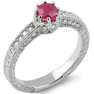 Ruby 5 85ct 0 85ct ruby g vintage style engagement ring