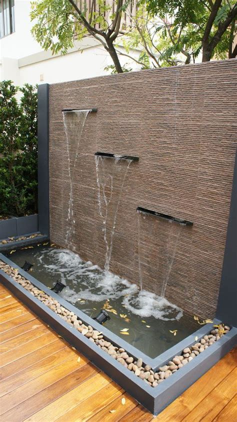 25 best ideas about outdoor wall fountains on