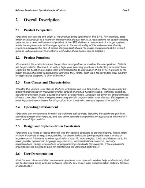 srs document template choice image templates design ideas