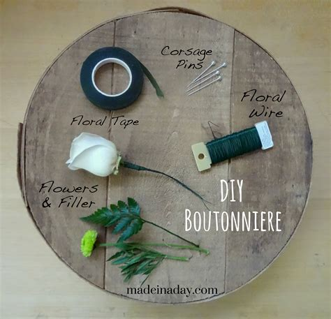 to make how to make a boutonniere made in a day