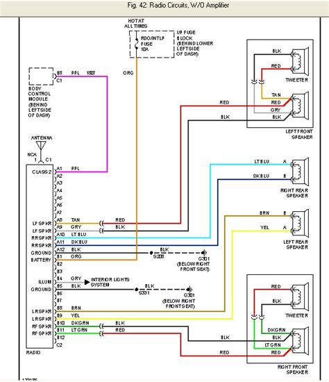 2000 chevy silverado wiring diagram color code