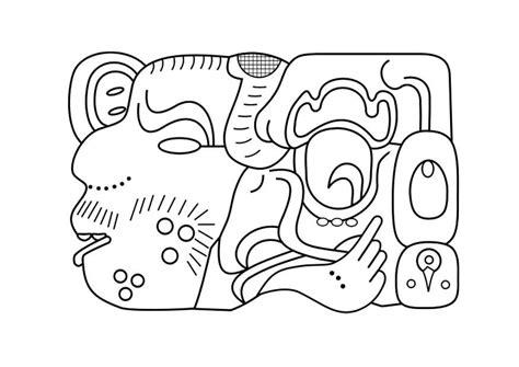 imagenes y simbolos en el arte dibujo para colorear arte maya img 27458