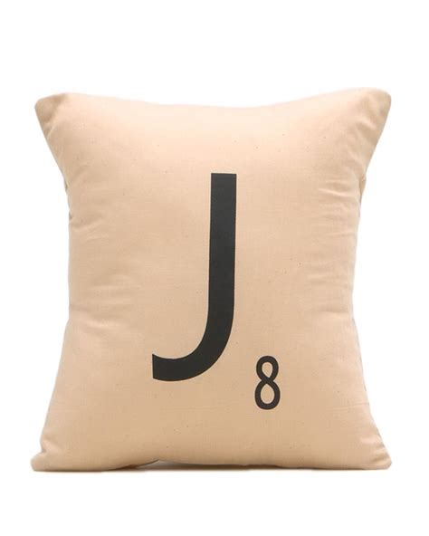 Scrabble Letter Pillows by Initial Scrabble Pillow