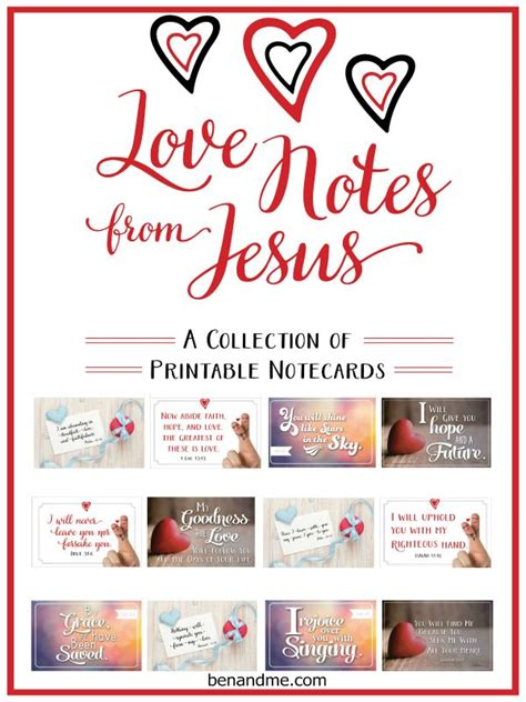 printable love note cards love notes from jesus a collection of free printable note