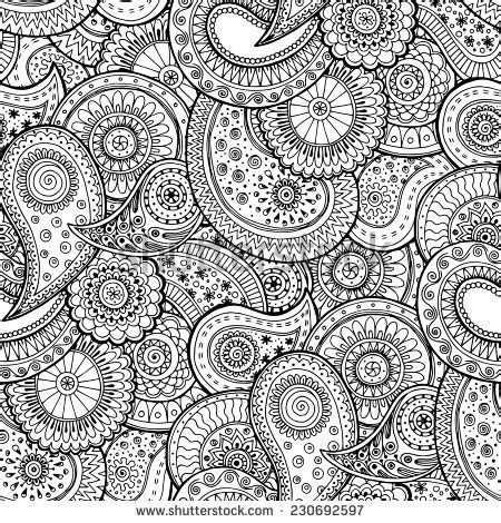 paisley doodle vector free mehndi design stock photos images pictures