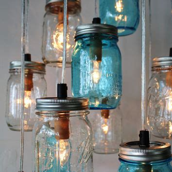 blue jar light fixture shop rustic light fixtures on wanelo