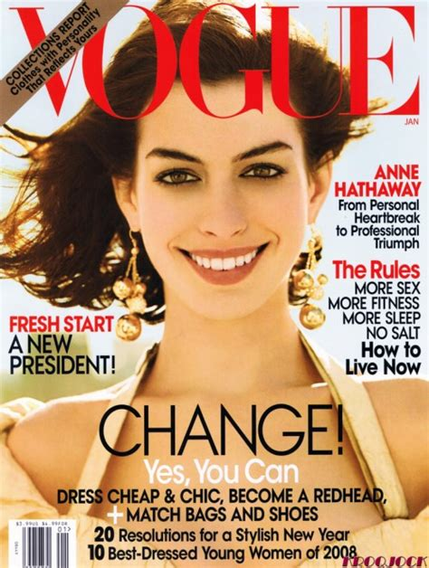 cancel magazines anne hathaway vogue magazine us january 2009 cover the quad